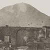 Detail of photo of Pompeii and Vesuvius