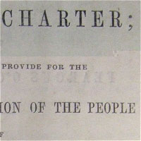 Detail of The People's Charter