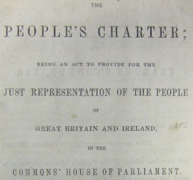 Detail from the front cover of The People's Charter