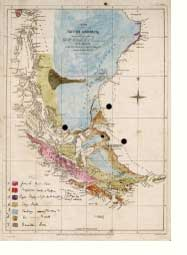 Darwin's geological map of South America