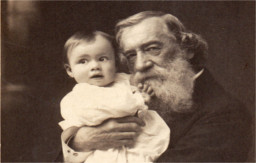 Moncure Conway and a baby. Copyright Conway Hall Ethical Society.
