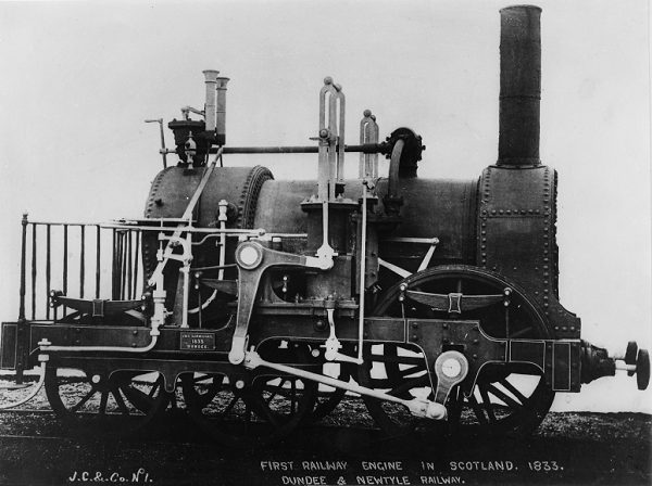 Image of Earl of Airlie, the first locomotive