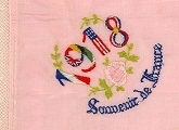Handkerchief embroidered '1918'