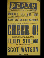 Poster advertising Teddy Stream's Music Hall act