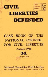'Civil Liberties Defended': case book of the National Council for Civil Liberties