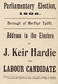 Cover of Keir Hardie's  1906 election address