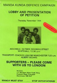 Image of an anti deportation campaign poster