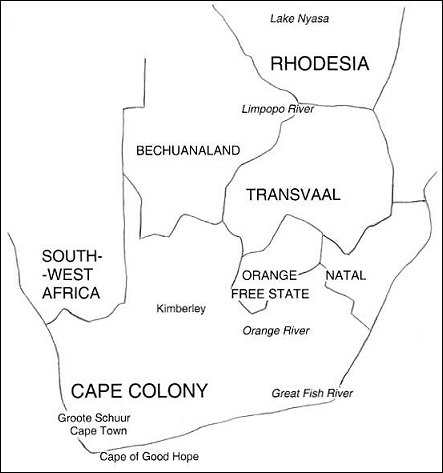 19th century colonial southern Africa: detail of map   Archives Hub