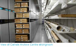 picture showing archive strongroom
